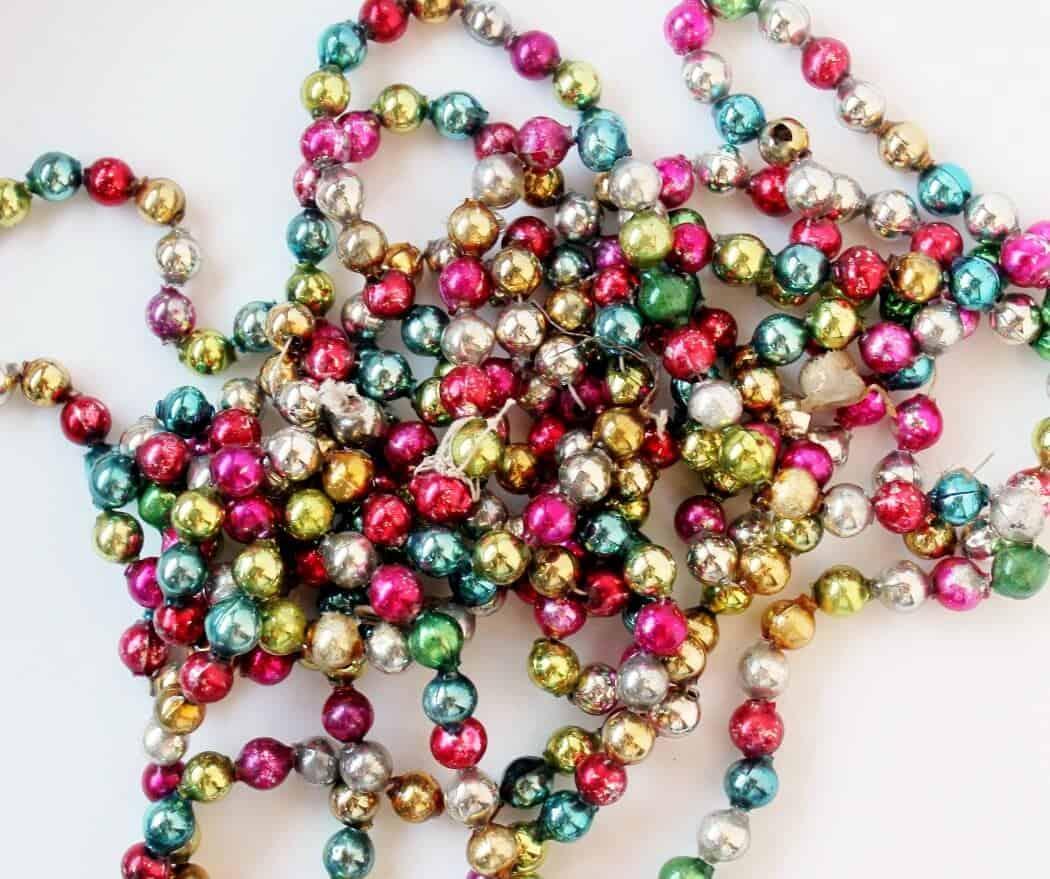 multi-colored mercury glass garland