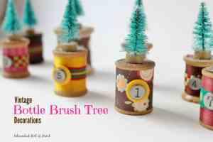 Vintage Bottle Brush Tree Decorations