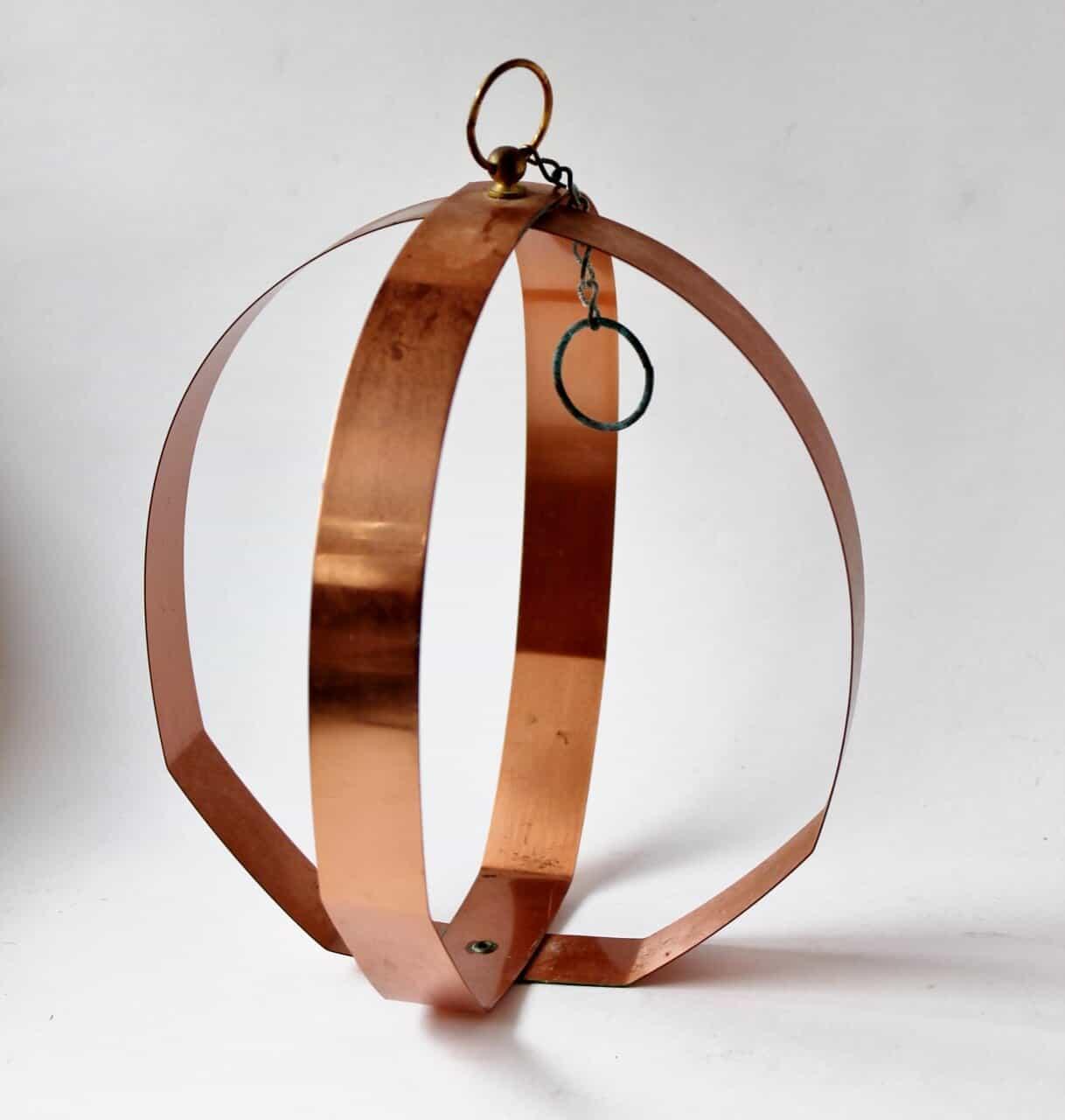 Vintage copper plant holder