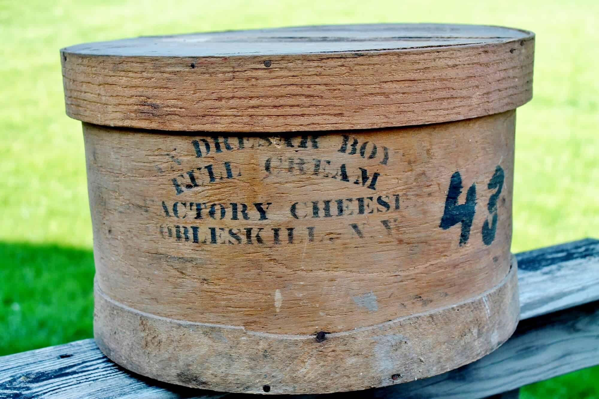 Antique Cheese Box Cobleskill NY