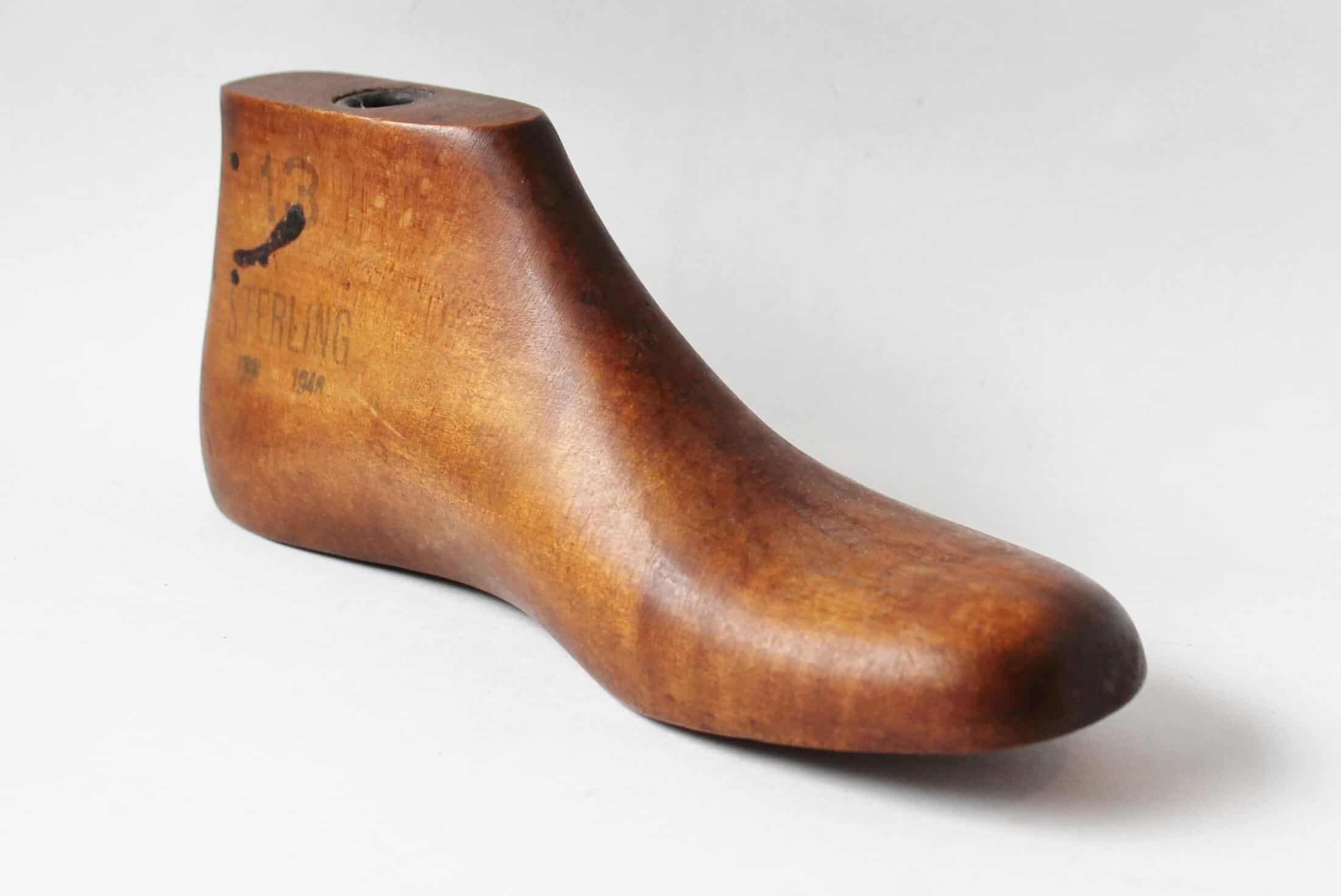 Antique wooden shoe last