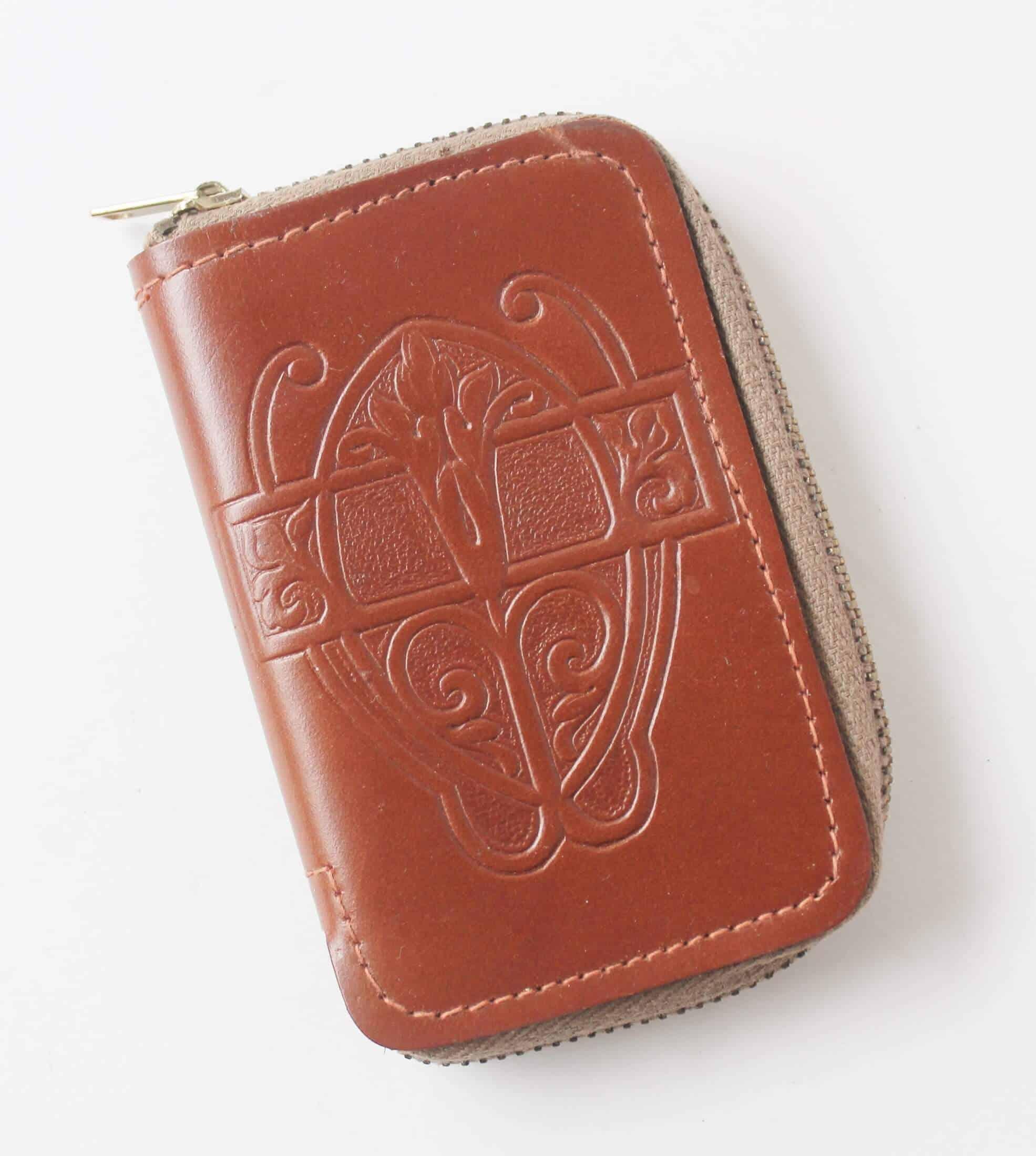 Vintage tooled leather key case