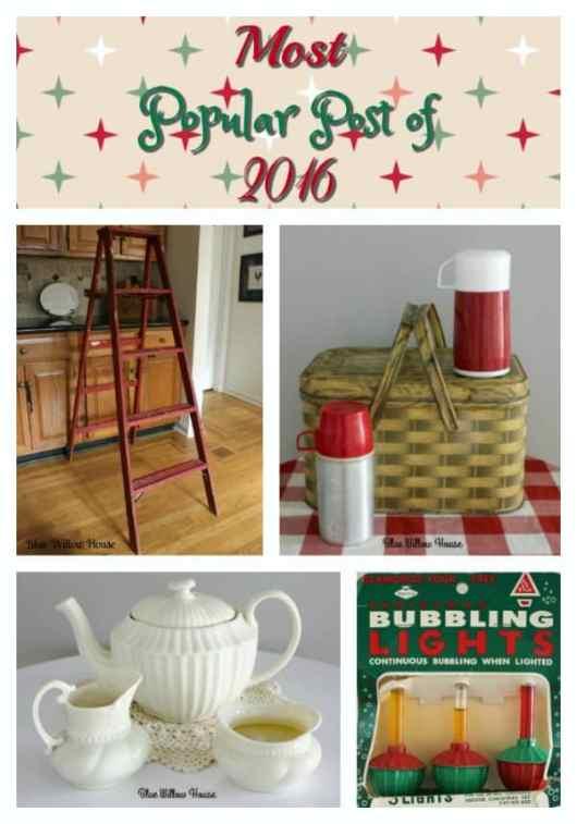 vintage ironstone, thermos, ladder, christmas