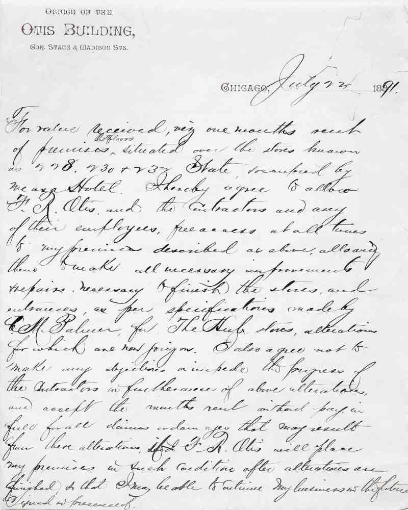 antique hand written letter