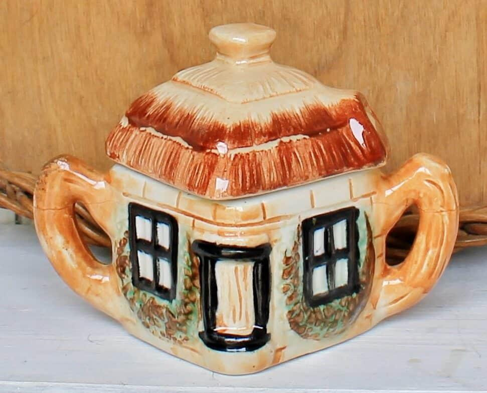 Cottage shaped sugar bowl