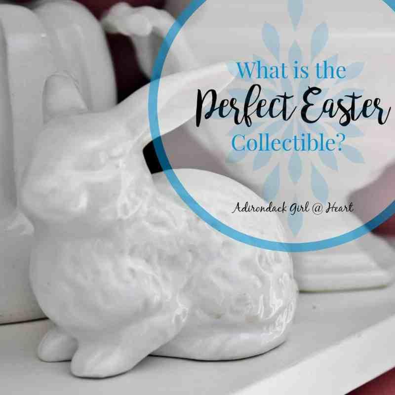 white ceramic bunny