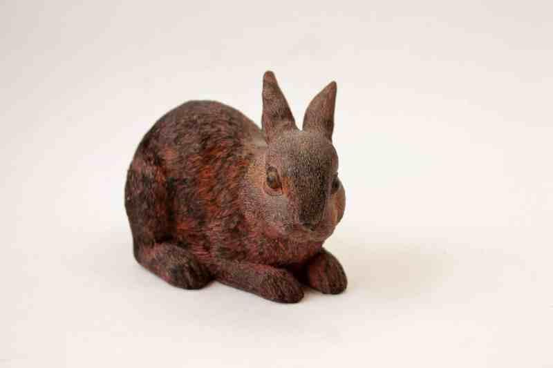 brown resin bunny