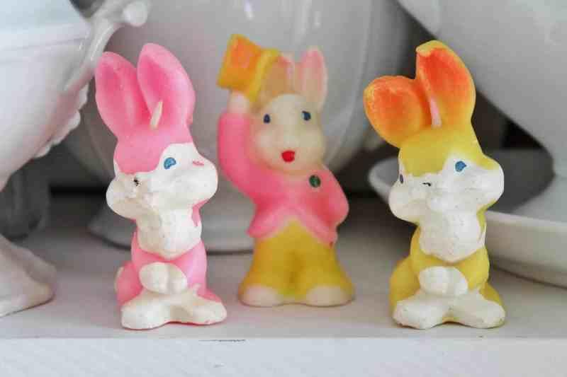 vintage Gurley Easter rabbit candles