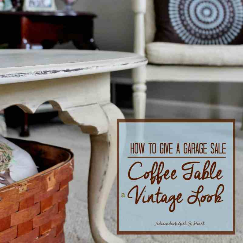 how to give a garage sale coffee table a vintage look