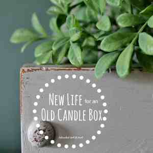 How to Give New Life to an [Ugly] Vintage Candle Box