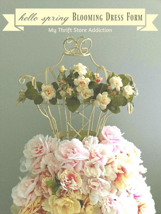 Beautiful floral decorated manequin