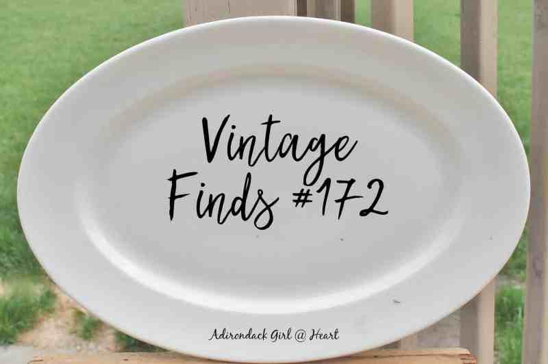 Vintage Finds #172, antique ironstone platter