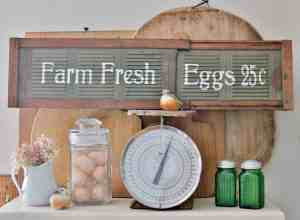 How to Turn a Vintage Vent into Farmhouse Sign