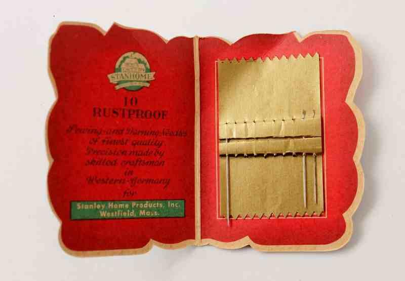 inside of vintage needle holder