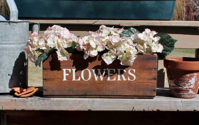 vintage flower crate
