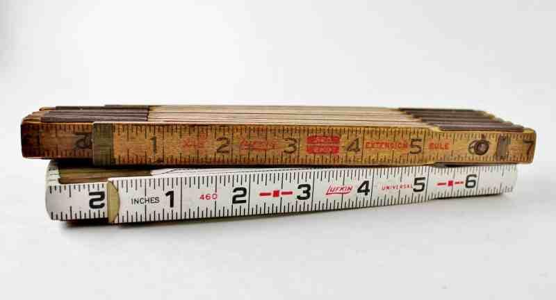 vintage folding rulers