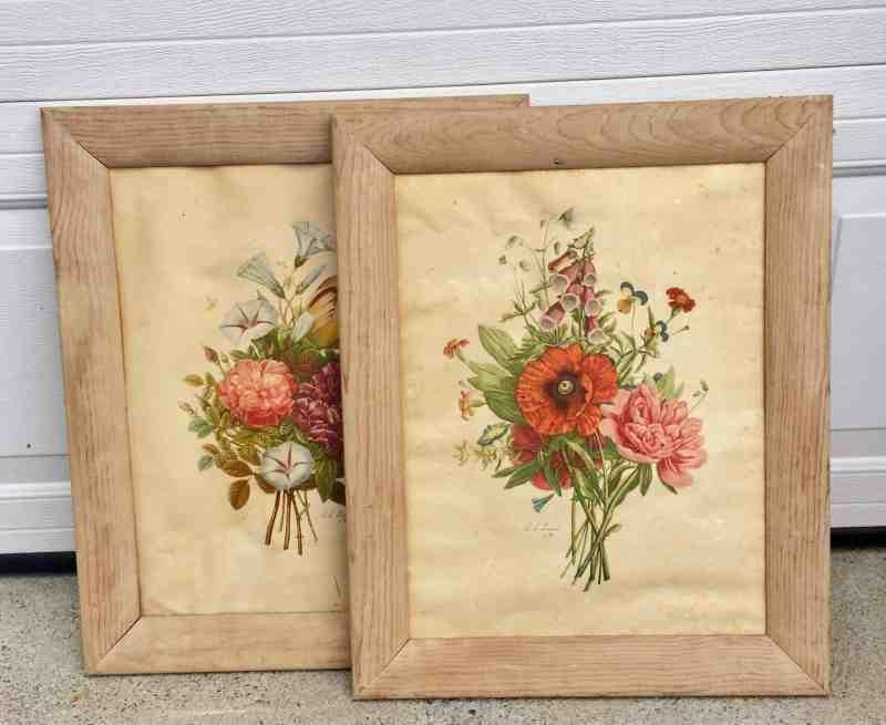 vintage pair of large frames