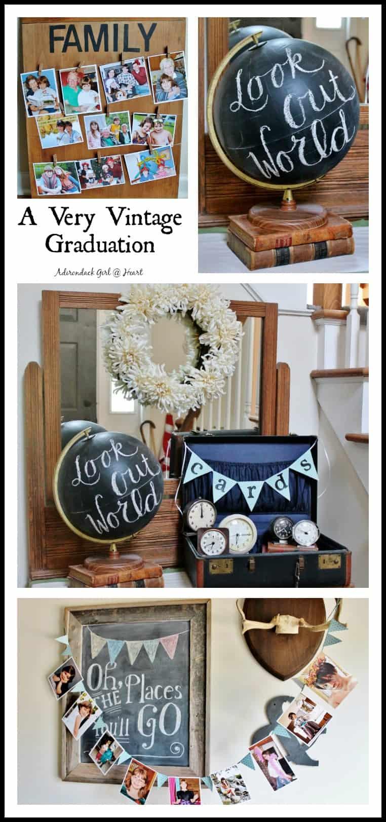 very vintage graduation collage