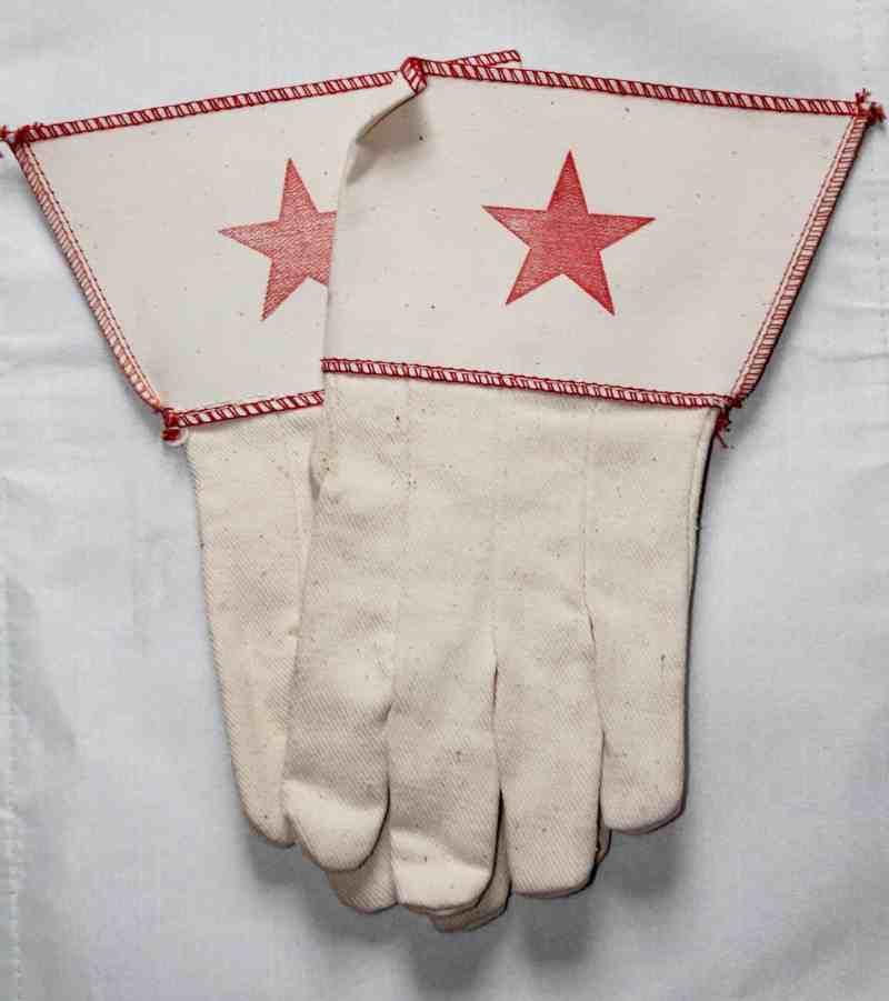 vintage canvas work gloves
