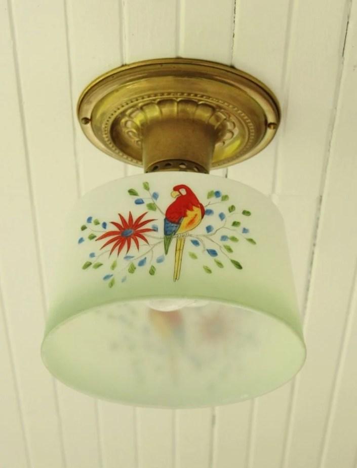 parrot decorated light fixture