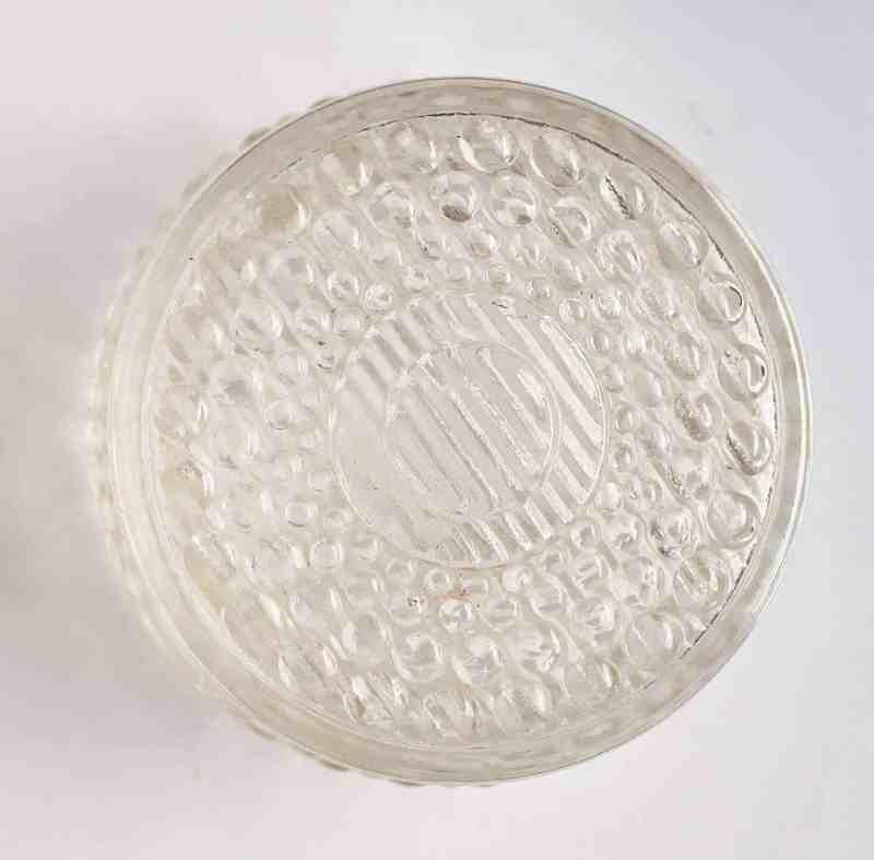 lid of vintage vanity jar