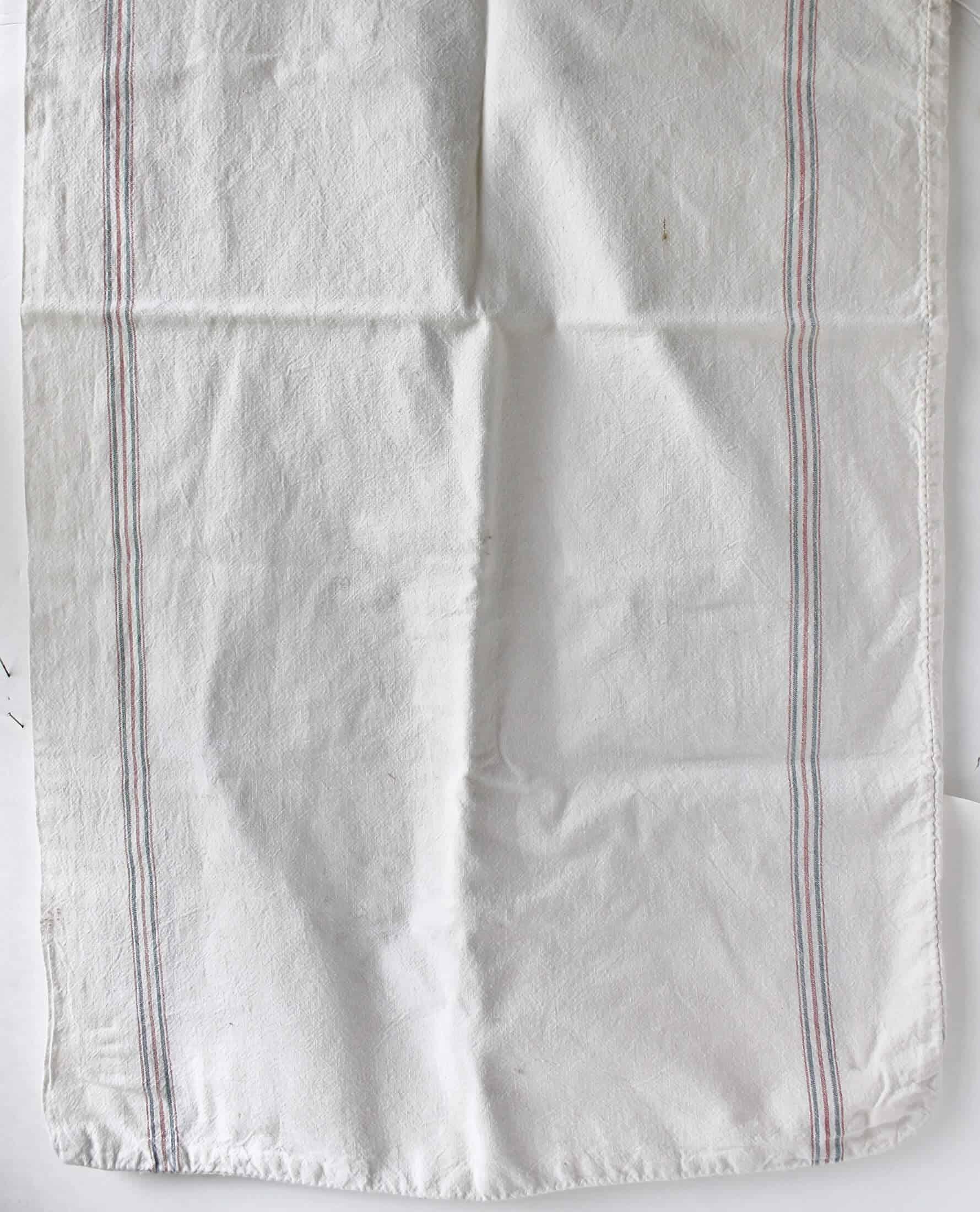 vintage striped flour sack