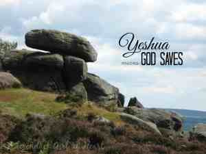 FaiThought: Yeshua Means God Saves