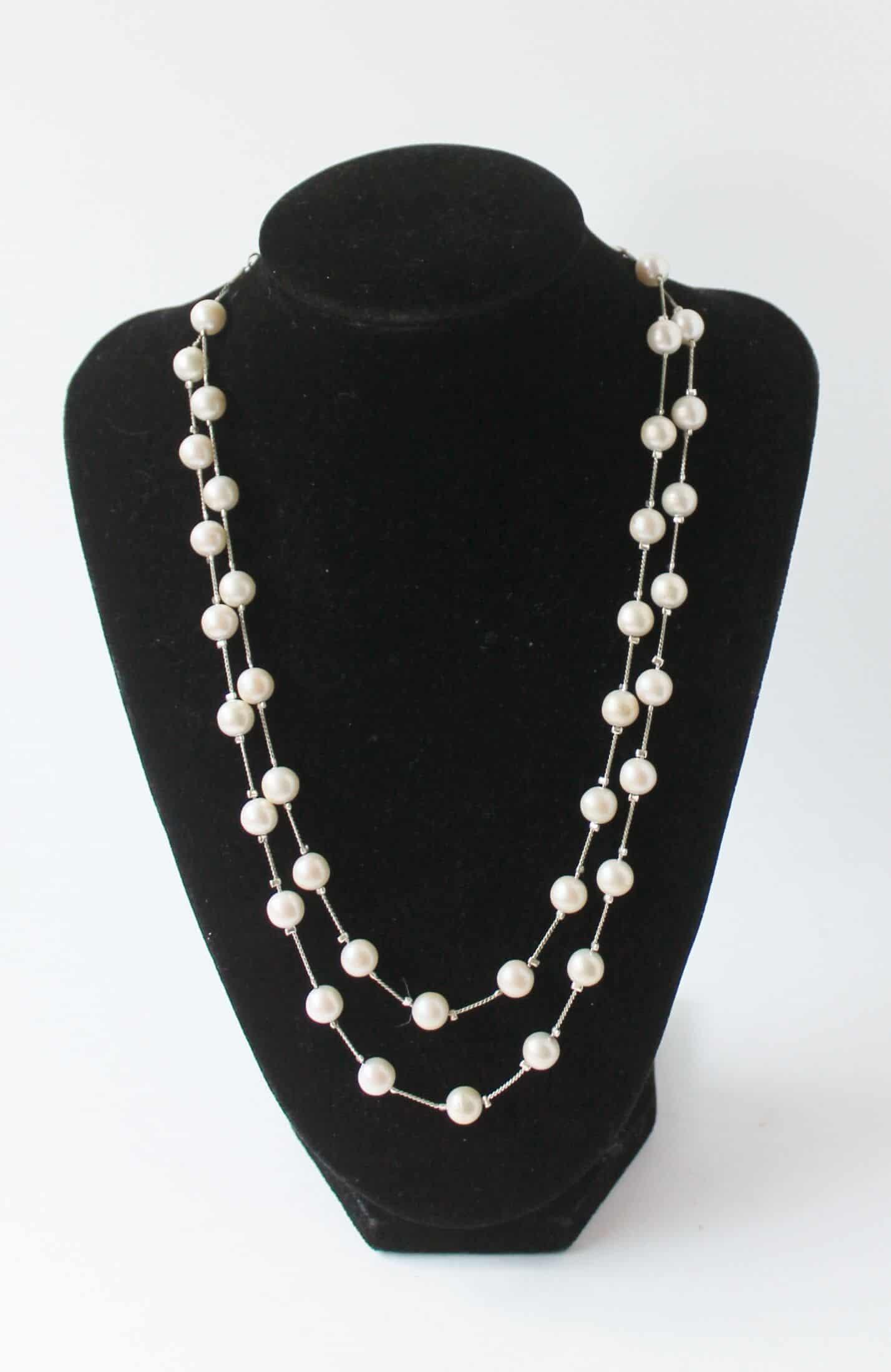 vintage monet pearl necklace