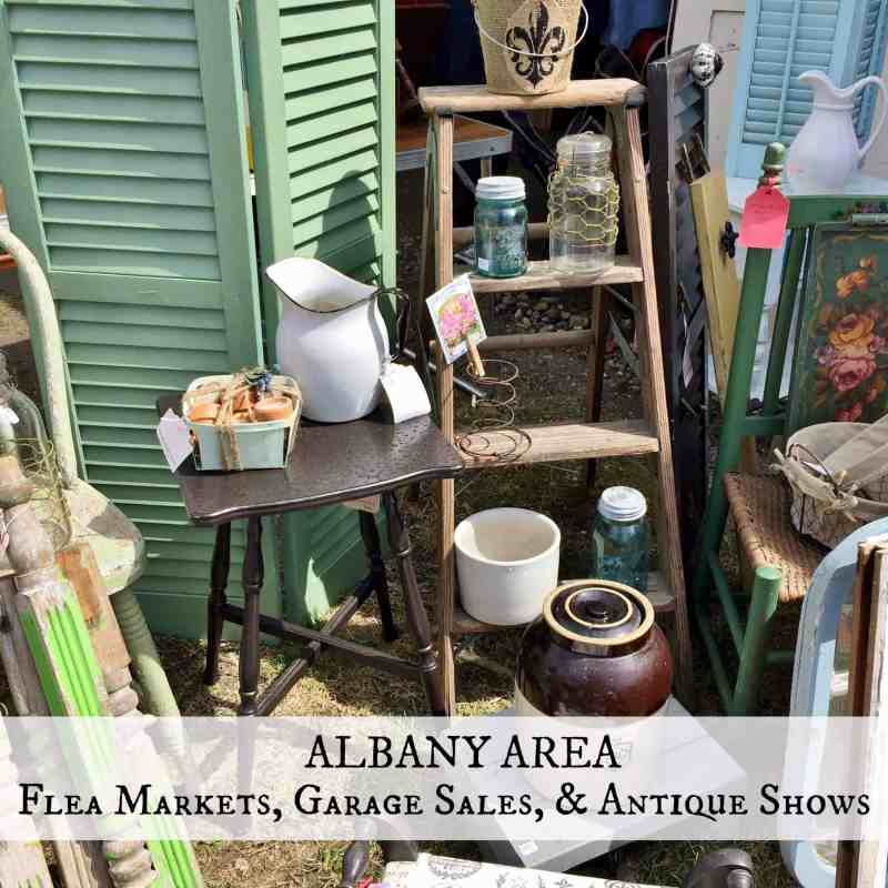 Albany flea markets & garage sale button