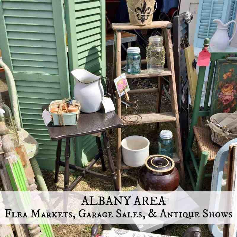 Albany flea markets & garage sale button