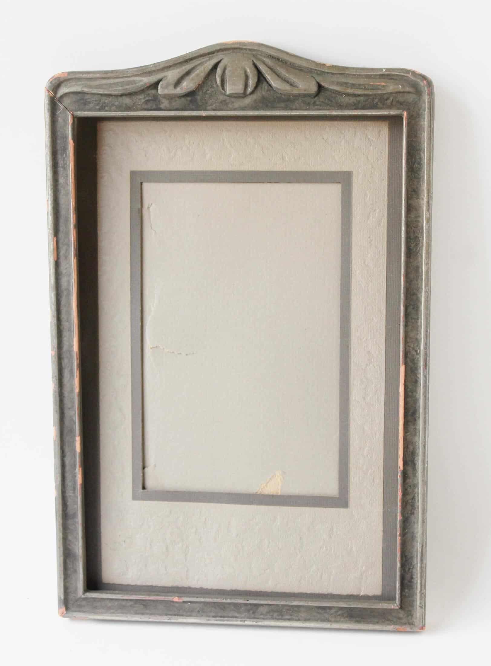 vintage gray frame