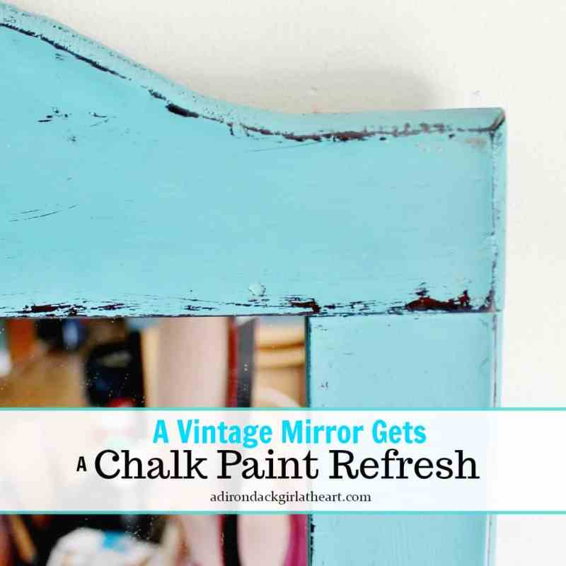 a vintage mirror gets a chalk paint refresh