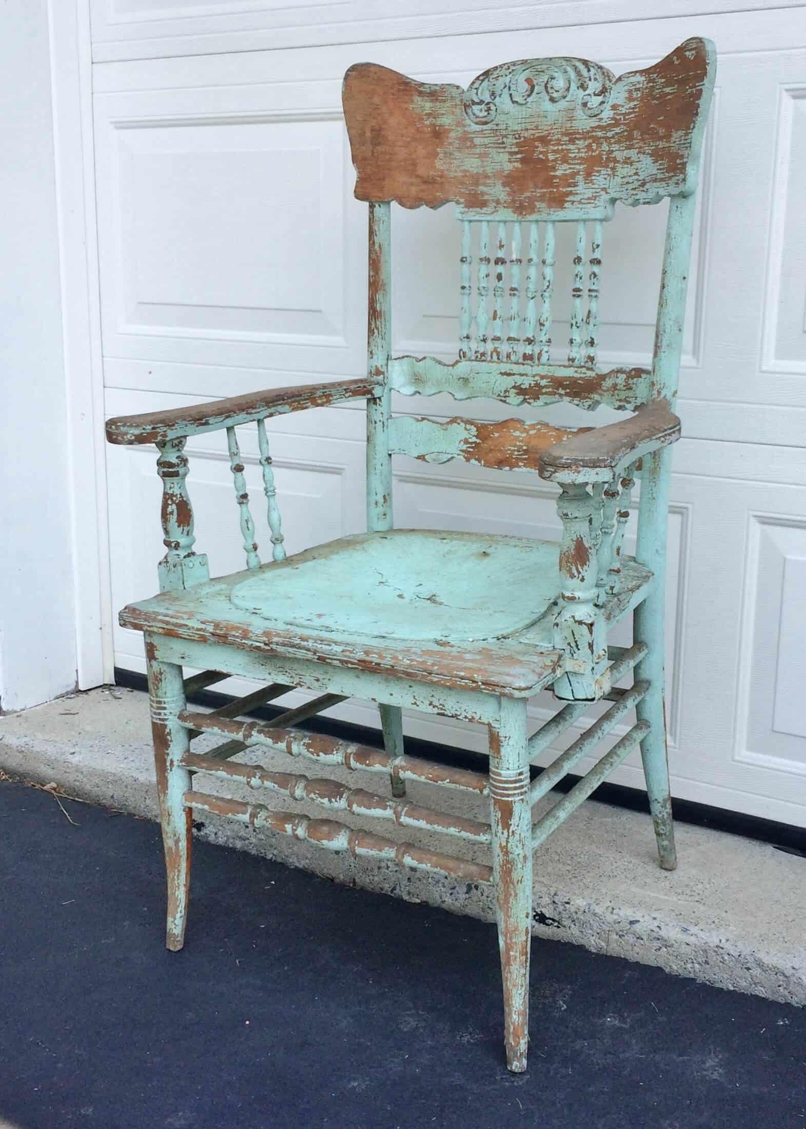gorgeous shabby chic aqua armchair