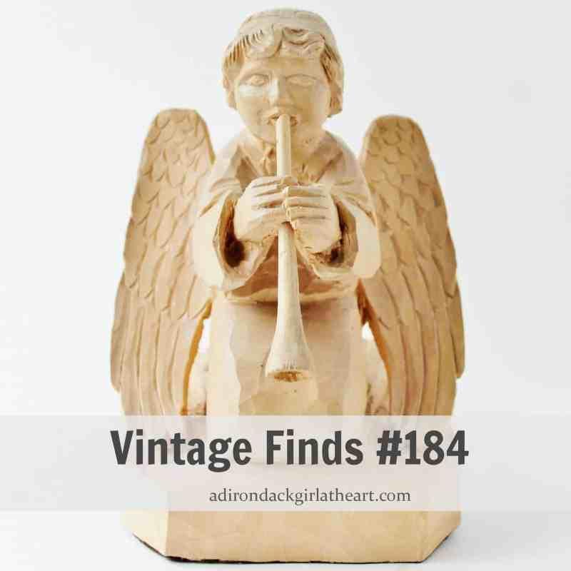 wooden folk art angel