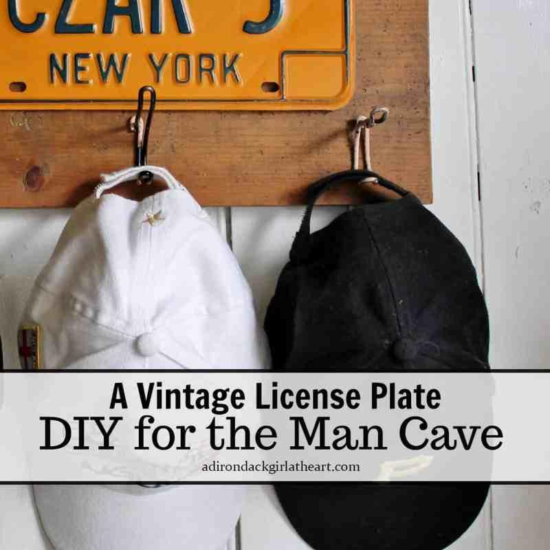vintage license plate rack