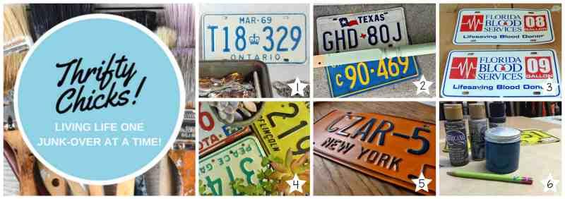 thrifty chicks license plate challenge