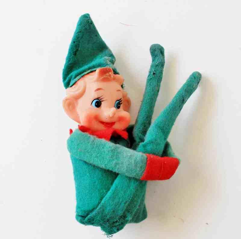 vintage shelf elf