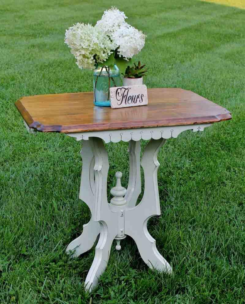 vintage side table makeover