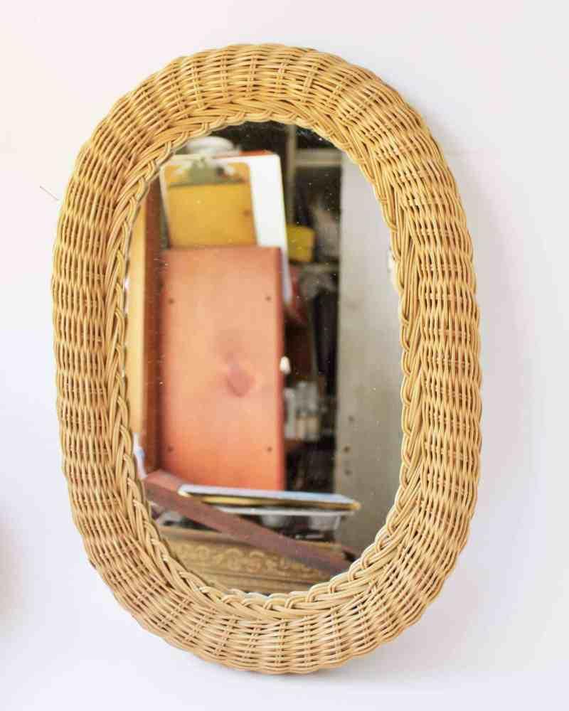 wicker mirror