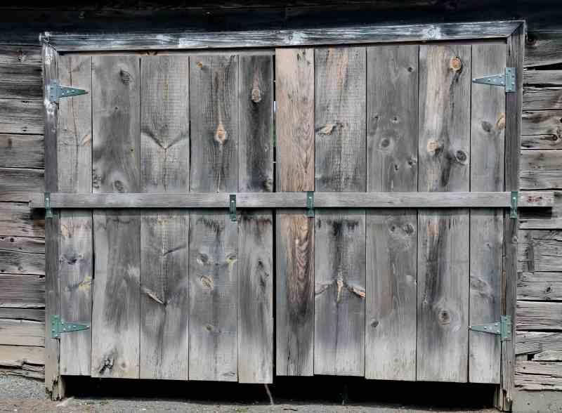 gray barn doors