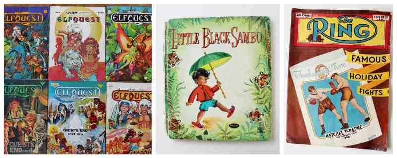 magazines and little black sambo