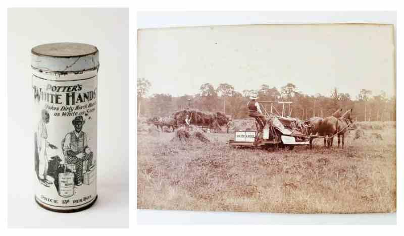 black american soap powder and antique photo
