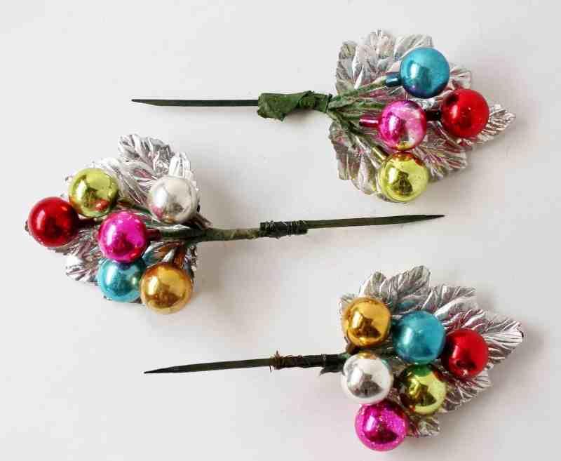 vintage floral picks made of bulbs
