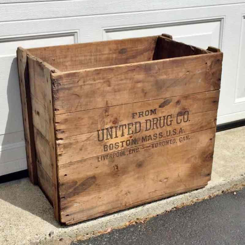 antique united drug co crate