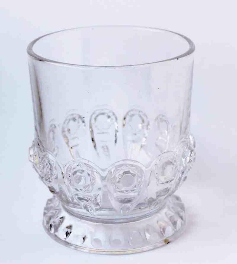 antique pressed glass spooner