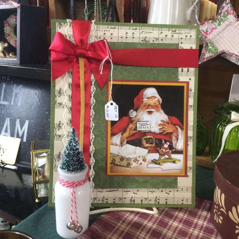 Santa multi-media Christmas decoration