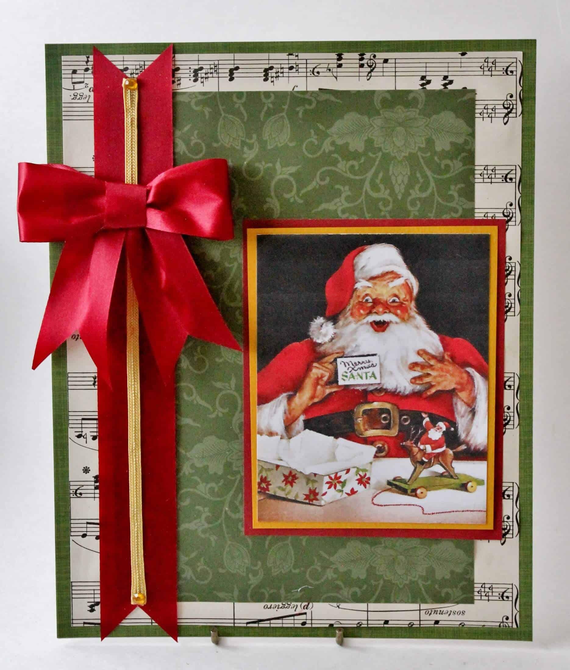 vintage santa chrismtas card artwork
