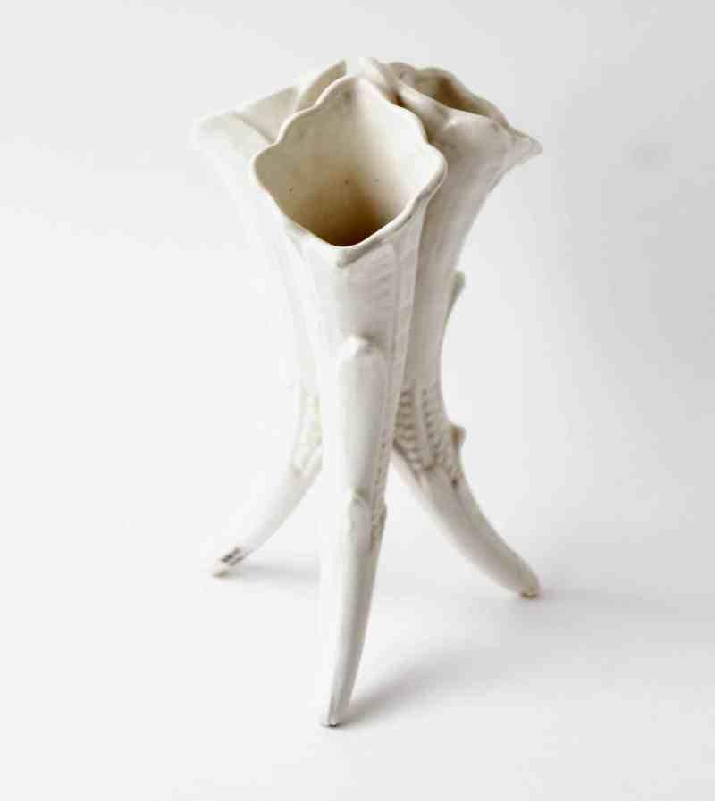 white victorian vase