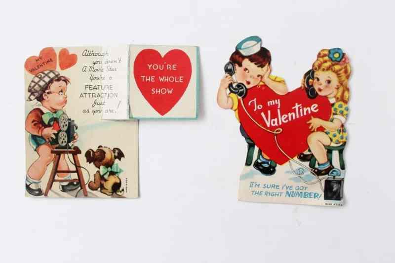 2 vintage valentines