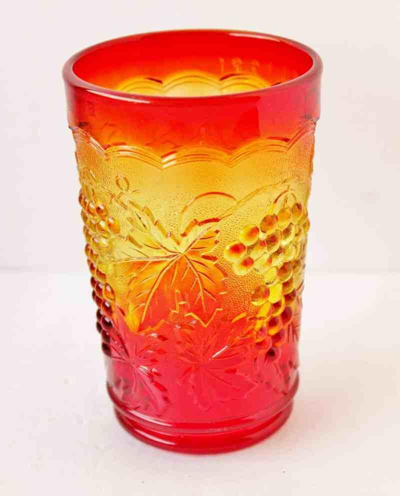 amberina drinking glass